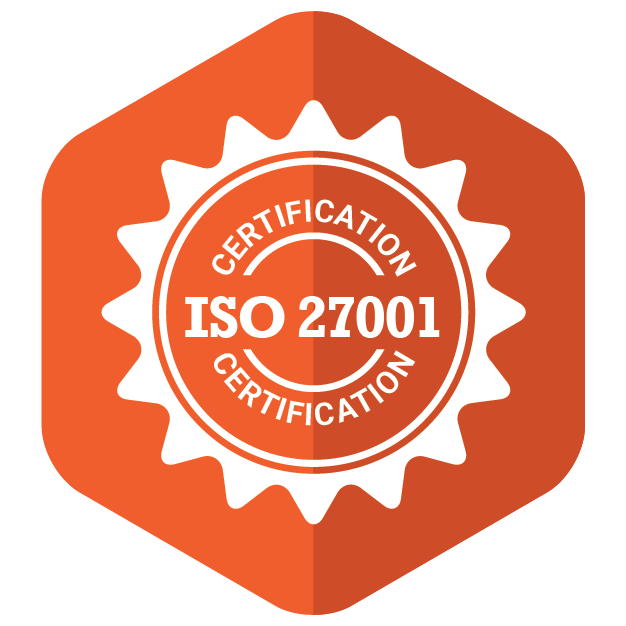 An Emblem representing ISO 27001 Certification