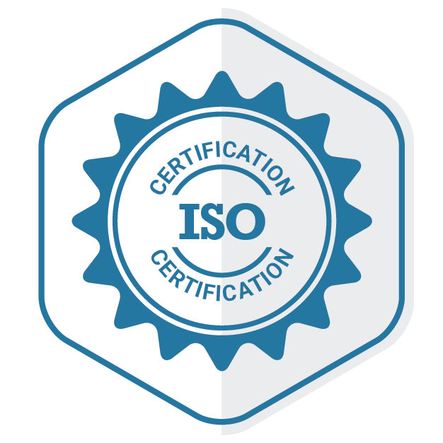 An Emblem representing ISO Certification